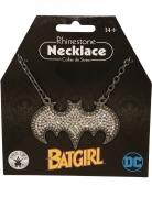 Glitzernde Batgirl™-Halskette silberfarben