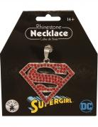 Glitzernde Supergirl™-Halskette für Erwachsene rot-silberfarben