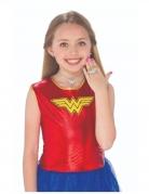 Wonder Woman™ Schmuckset für Kinder Kostüm-Accessoire 3-teilig silber