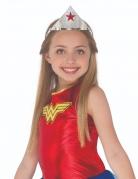 Wonder Woman™ Diadem für Kinder Accessoire silber-rot