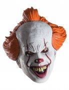 Es™-Horrorclown-Maske für Erwachsene weiss-rot-orange