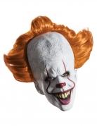 Pennywise™-Maske mit Perücke Deluxe-Maske Es™ weiss-orange