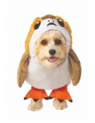 Porg™-Kostüm The Last Jedi™ für Hunde braun-weiss-orange