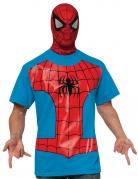 Spiderman™- T-Shirt und Maske Lizenzkostüm blau-rot