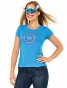 Captain America™-T-Shirt mit Maske blau-rot-weiss