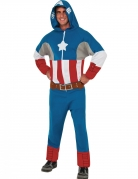Captain America™-Overall mit Kapuze Marvel™ blau-rot-weiss