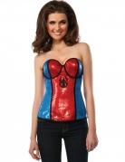 Spiderman™-Korsage für Damen Marvel™ blau-rot-schwarz