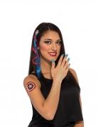 Captain America™-Zubehörset und Make-up für Damen blau-rot