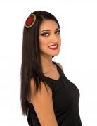 Black Widow™-Haarspange für Damen schwarz-rot-gold