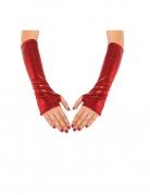 Spidergirl™-Armstulpen Accessoire metallic rot-schwarz