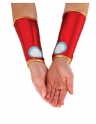 Iron Man™-Manschetten für Damen Accessoire rot-gold