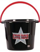 Captain America™-Eimer für Bonbons Captain America™ Zubehör schwarz-rot