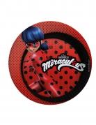Ladybug™-Teller Pappe Dekoration 8 Stück rot-schwarz 23cm