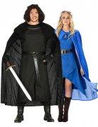 Mittelalter-Paarkostüm für Damen und Herren Herrscherpaar schwarz-blau