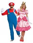 Super Mario und Peach Paarkostüm Videospiele für Erwachsene bunt