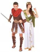 Römer-Paarkostüm Gladiator weiss-braun-grün