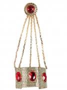 Armband mit Ring Königinnen-Kostüm-Accessoire gold-rot
