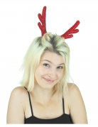 Rentier-Haarspangen Kopfschmuck mit Pailletten rot