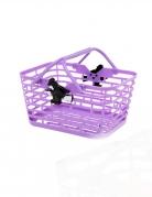 Süßigkeiten-Körbchen für Halloween violett-schwarz