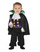 Kleiner Vampir Kostüm für Kleinkinder schwarz-lila-grün
