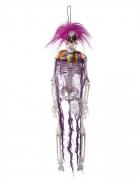Horror-Clown Hängedekoration Halloween violett-bunt 40cm