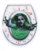 Gruseliger WC-Aufkleber Halloween-Dekoration grün-grau 28x32cm