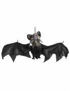 Animierte Fledermaus Halloween-Dekoration schwarz 45x80cm