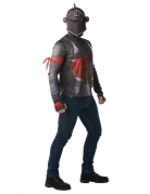 Fortnite™-Kostüm für Erwachsene Black Knight Fasching grau-rot