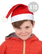 Weihnachtsmannmützen-Set für Kinder rot-weiss 32cm