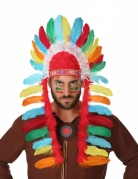 Indianer-Kopfschmuck für Erwachsene bunt