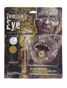 Zombie-Auge Make-up-Set Halloween-Makeup schwarz-ocker-weiss
