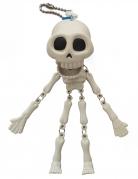 Skelett-Anhänger Halloween-Accessoire weiss-schwarz 15cm