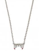 Vampirgebiss-Halskette Halloween-Accessoire silber