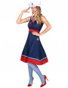 Marine-Kostüm für Damen Faschingskostüm blau-rot-weiss