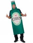 Bier-Kostüm humorvolles Faschingskostüm grün-weiss-schwarz