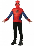 Spiderman™-Shirt mit Kopfbedeckung Marvel™ rot-blau