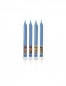 Paw Patrol™-Kerzen Geburtstagskerzen 4 Stück blau 9cm