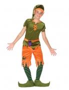 Waldelfen-Kinderkostüm grün-orangefarben-lila
