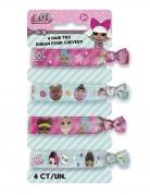 LOL Surprise™-Haargummis 4 Stück Accessoire pink-weiss