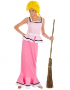 Gutemine-Damenkostüm Asterix und Obelix™ Faschingskostüm rosa-weiss
