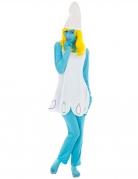 Schlumpfine-Kostüm für Damen Die Schlümpfe™ blau-weiss