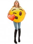 Emoji™-Kostüm Kussmund Faschingskostüm gelb-braun-rot