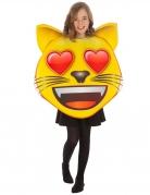 Emoji™-Katzenkostüm mit Herzaugen für Kinder gelb-rot