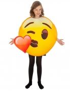 Emoji™-Herzkostüm für Kinder gelb-rot