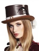 Steampunk-Zylinder für Frauen mit Spitze braun