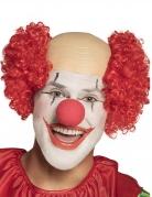 Clown-Perücke für Männer Halbglatzenperücke Karnevals-Perücke rot-beige