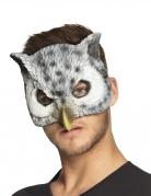 Eulenmaske Halbmaske für Erwachsene grau