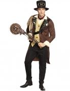 Steampunk-Kreissäge Kostümaccessoire bronze-schwarz