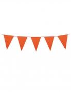 Girlande Mini-Wimpel Raumdeko orange 3m
