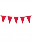 Girlande Mini-Wimpel Raumdeko rot 3m